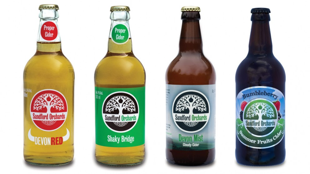 Sandford Orchards - Bottle Designs